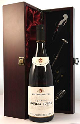 Pouilly Fuisse Vignes Romanes 2016 Bouchard Pere & Fils en una caja de regalo forrada de seda con cuatro accesorios de vino, 1 x 750ml