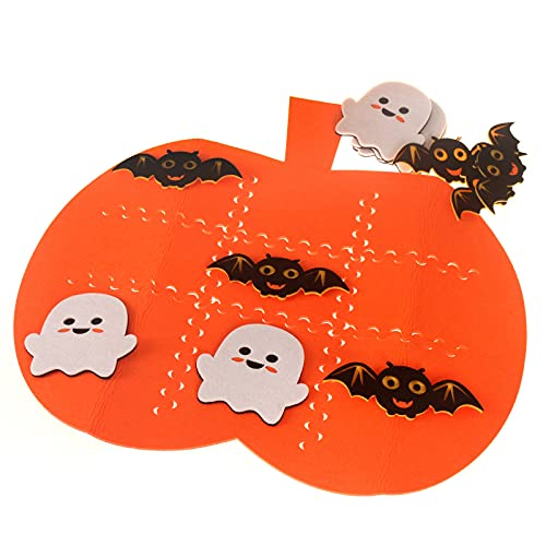 Pumpkin Halloween Tic Tac Toe Game Checker Board Game for Halloween Party Theme