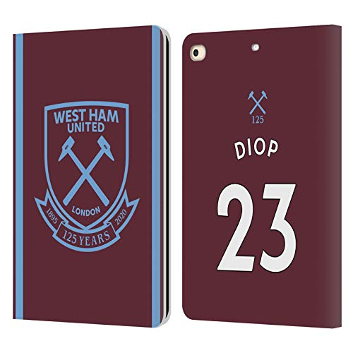 Official West Ham United FC Issa Diop 2020/21 Players Home Kit Leather Book Wallet Case Cover Compatible For Apple iPad 9.7 2017 / iPad 9.7 2018