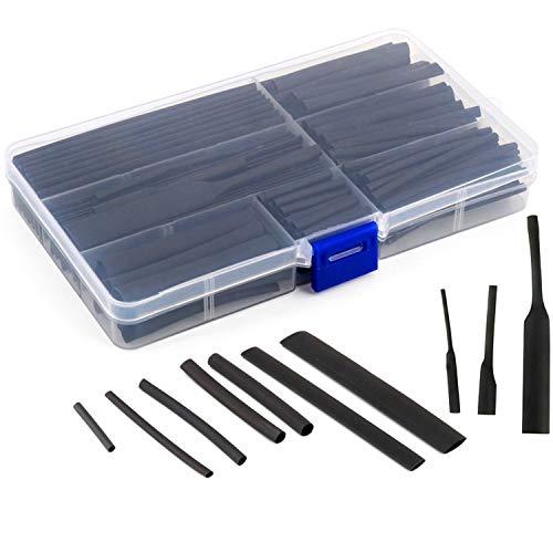 150ピース熱収縮チューブ 収納ケース付き 絶縁チューブ8サイズ2-13ミ高難燃性 耐久性 電線の端末処理 感電防止 収納ボックス付き