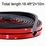 Funlove 32Ft Universal Car Weather Stripping Self Adhesive Automotive Door Rubber Weather Draft Seal Strip for Car Window Door Engine Cover Noise Insulation (B Shape, 51/100 X 1/5 Inch)
