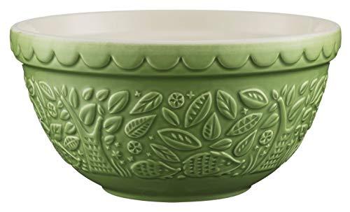 Mason Cash Rayware, Ciotola per impastare, Design: Riccio, 21cm, Colore: Verde