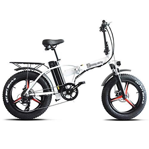 PHASFBJ 20 Pulgadas Bicicleta Eléctrica para Nieve, Bicis Electrica Fat Bike 7...
