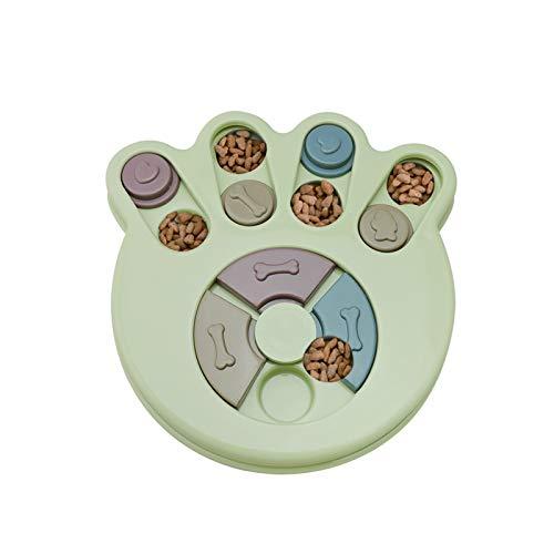 Andiker Hundepuzzle Spielzeug Hunde Lernspielzeug, haltbares interaktives Hund-Spielzeug, Hundehirnspiele, verbessern IQ, 3 Farben (Grün)