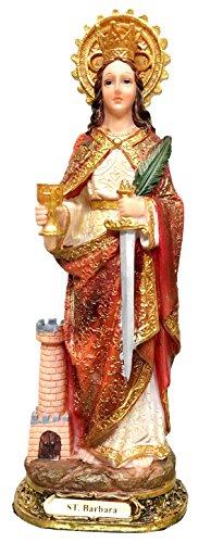 St. Barbara Statue Saint Barbara Estatua Holy Figurine Sculpture (8 Inch)