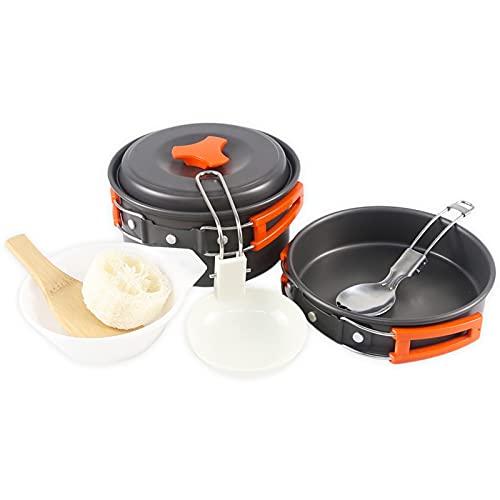 Camping Kit de Utensilios de Cocina Juego de Cocina Vajilla Vajilla Outdoor Bowls Equipo de Turismo para el Picnic de Senderismo (Color : Camping Cookware Set)