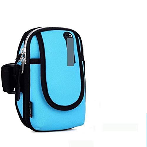 Antideslizante Brazo bolsa del teléfono móvil de pulsera de Ejecución de teléfono Bolsa brazo bolso al aire libre del teléfono móvil de los hombres y las mujeres universal del brazal Sports Mobile dur