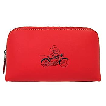 Disney x Coach 59820 COSMETIC CASE 17 IN GLOVE CALF LEATHER WITH MICKEY