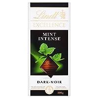 Lindt Excellence Dark Chocolate - Mint Intense (100g) リンツの優秀ダークチョコレート - ミント強烈な( 100グラム)