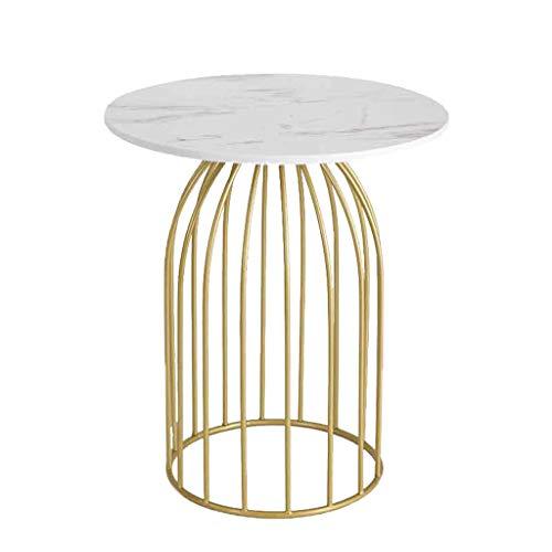 Hkwshop kleine bijzettafel salontafel nordic marmer ronde creatieve kleine salontafel thuis woonkamer bank tafel salontafel grootte optioneel geschikt voor woonkamer, slaapkamer, terras