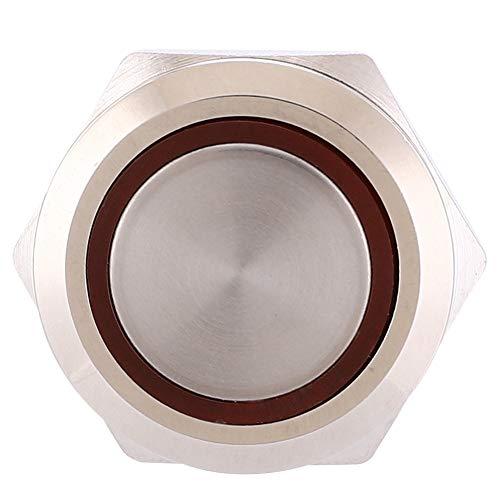 con interruptor de botón de botón de enchufe de cable Interruptor de botón de anillo de bloqueo automático para fábrica(red, Pisa Leaning Tower Type)