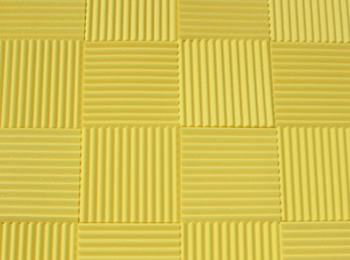 Soundproofing Acoustic Studio Foam - Yellow Color - Wedge Style Panels 12