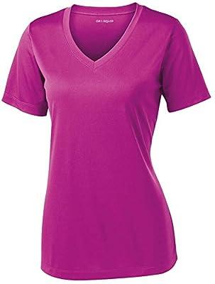 Women's Short Sleeve Moisture Wicking Athletic Shirt-PinkOrchid-M
