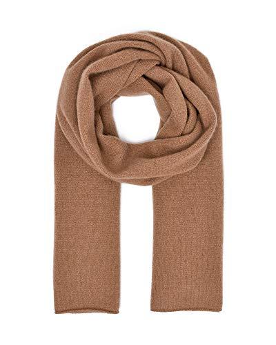 Style & Republic Écharpe 100 % cachemire XL douillette en tricot de cachemire Taille unique 52 cm x 172 cm - Beige - Taille Unique