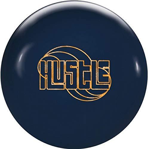 Roto Grip Hustle Ink, Tintenblau, Solid Oberfläche, Reaktiv Bowlingkugel für Einsteiger und Turnierspieler - inklusive 100ml EMAX Ball-Reiniger Größe 10 LBS