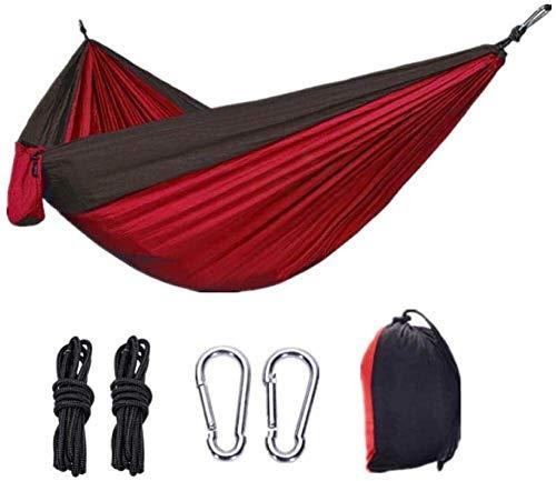 Suge Extérieur Hamac Double en Nylon Camping Hamac Camping Portable Ultra léger en Nylon Spinning Parachute Tissu Couleur