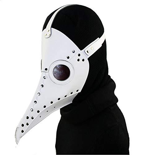 Cook shark Steampunk Plague Bird Mask of Retro Medieval Doctor Gothic Vintage Costume, Halloween Party Cosplay Decoración Accesorio