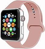 VIKATech Correa de Repuesto Compatible con Apple Watch de 40 mm 38 mm, Correa de Silicona Suave de Repuesto para iWatch Series 5/4/3/2/1, S/M, Vintage Rose