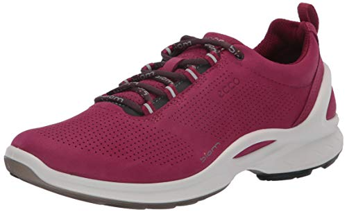 ECCO - Women's Biom Fjuel Perforated Athletic Sneaker, Sangria, 8-8.5 Medium US
