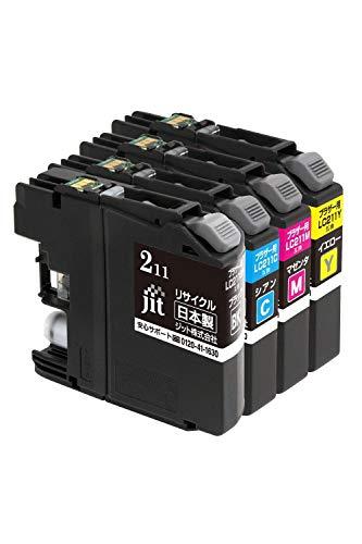 【Amazon.co.jp 限定】ジット 日本製 プリンター本体保証 ブラザー(Brother) 対応 リサイクル インクカートリッジ LC211-4PK 4色セット対応 JIT-NB2114P