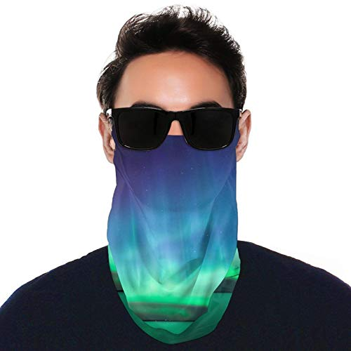 Beautiful Northern Lights Neck Gaiter Face Mask Cover Bandanas for Summer Uv Scarf Headbands with Hanging Ear