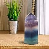 Yencoly Pietra di Fluorite, Linee uniche Naturali Quarzo Esagonale Bacchetta Regalo Fluorite Cristallo, per Amici per Famiglie(35mm-40mm)