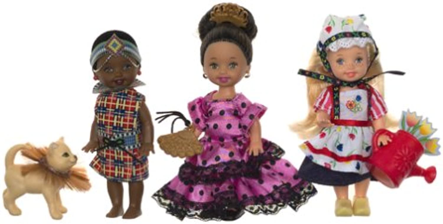 Barbie Kelly Friends of the World 3Doll Gift Set