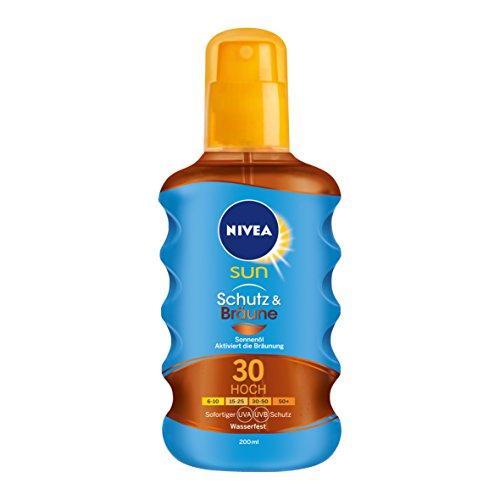 Nivea Sun Schutz & Bräune Sonnenöl-Spray mit Bräunungs-Aktivierung, Lichtschutzfaktor 30, 1er Pack (1 x 200 ml)
