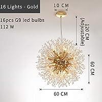 SSY-YU ペンダントライト シャンデリア 四角形/円形の水晶シャンデリアのモダンな創造的なデザインランプゴールド/クロムLED照明のための照明のための照明 LED対応 引掛シーリング式 インダストリアル (Emitting Color : Cold White, Lampshade Color : Gold Dia60cm)