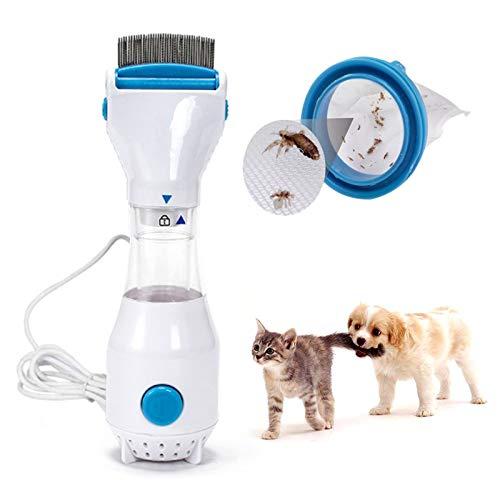 RBNANA Elektrischer Läuse-Entferner, automatischer Läuse-Entferner, elektrischer Flohkamm mit Fangfiltern, sicher für Ihre Hunde und Katzen