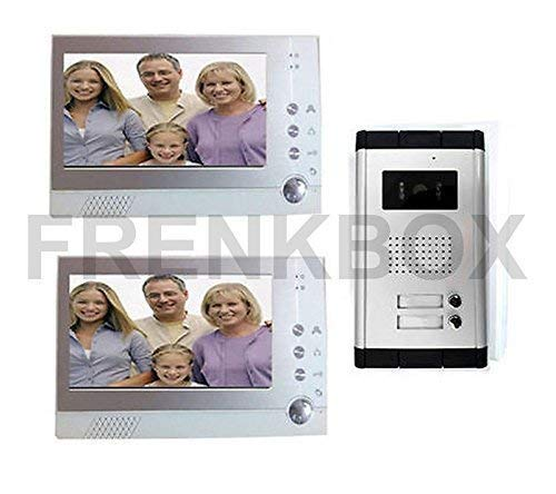 Frenkbox Coppia Videocitofono bifamiliare LCD Foto Recorder DVR registratore Immagini