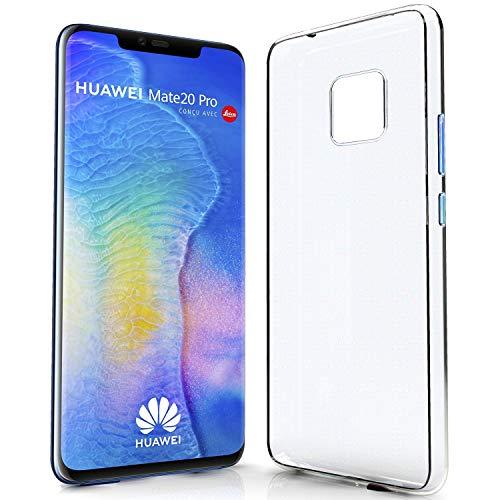 NewTop Cover Compatibile per Huawei Mate 20 Lite/20 PRO, Custodia TPU Clear Silicone Trasparente Slim Sottile Case Posteriore Protettiva (per Huawei Mate 20 PRO)