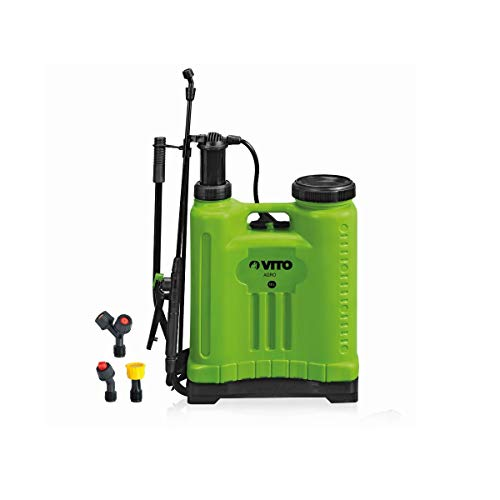 VITO Professional rückentragbarer 12L Drucksprüher mit Jet+Spray Funktion für Sprüharbeiten im Haus & Garten, nur 2,8 kg, Betriebsdruck 2,95 bar