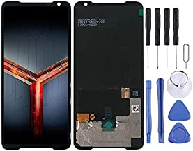 Vcfbfcv AMOLED Material LCD Screen and Digitizer Full Assembly for Asus ROG Phone II ZS660KL(Black) (Color : Black)
