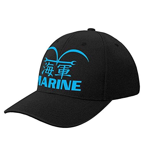 xuxi Anime 92 Marine Uniform Logo Cap Dad Hat Adjustable Cotton Baseball Caps for Men Black