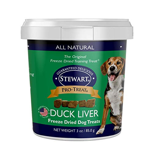 Stewart Pro-Treat Duck Liver Freeze Dried Dog Treats, 3-Ounce, Model Number:...