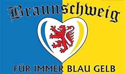 U24 Flagge Fahne Braunschweig für Immer 90 x 150 cm