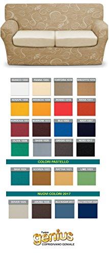 BIANCALUNA Genius 4D Copri Cuscino 3 posti per Cuscini da 160 a 220cm - Colori Tinta Unita Color da comunicare