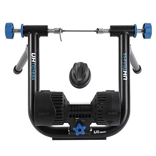 Entrenador de bicicleta Plataforma de entrenamiento de ciclismo inteligente de potencia vital Marco de acero inoxidable Bicicleta de ejercicio para interiores para ejercicio en interiores (Color: ne