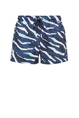 BOSS Herren Tigershark Schnelltrocknende Badeshorts mit abstraktem Tiger-Print