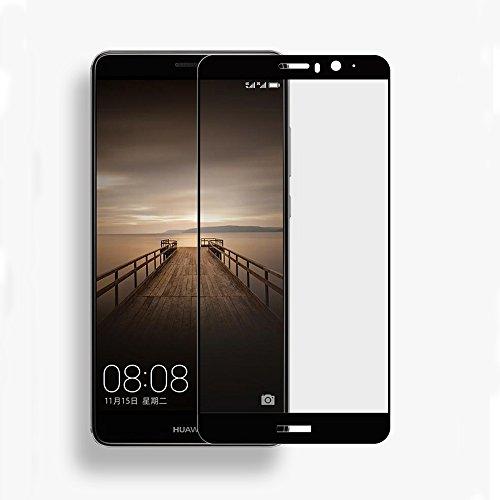 【Trocent】Huawei Mate 9 フィルム 保護フィルム 強化ガラス 超薄 硬度9H 耐衝撃 ガラスフィルム Huawei Mate 9 気泡レス 自動吸着 貼り易い 液晶フィルム (Mate 9, ブラック)