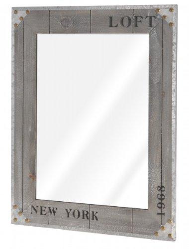 Quantio Nostalgischer Wandspiegel 'New York 1968' - Spiegel - Flurspiegel - Kosmetikspiegel - Rasierspiegel