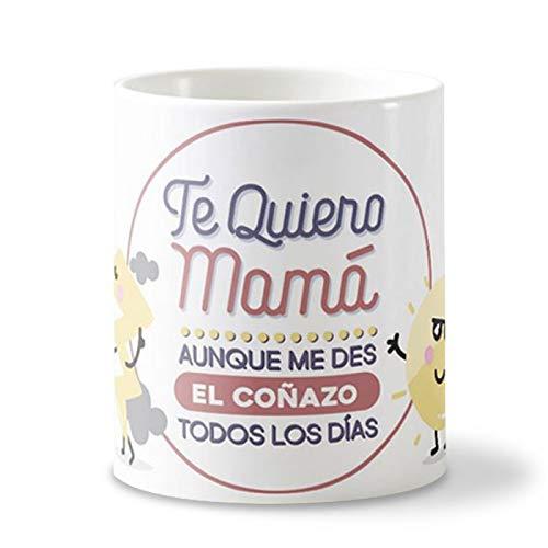 Getsingular Tazas Día de la Madre | Tazas de cerámica Blanca Taza Original para el Día de la Madre, Cumpleaños, Navidad, o Cualquier Fecha Especial|Frase Te Quiero mamá, Aunque