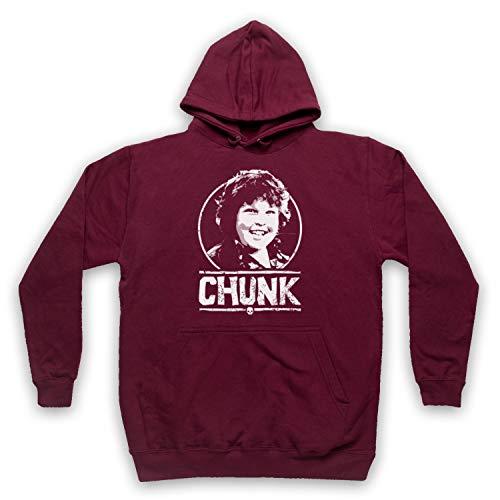 My Icon Art & Clothing Goon Docks Chunk Tribute Erwachsenen Kapuzensweater, Burgund, Small