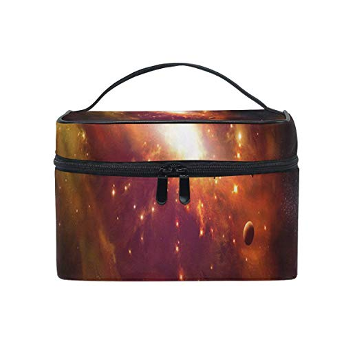 Trousse à maquillage Galaxy Orange Cosmetic Bag Portable Large Toiletry Bag for Women/Girls Travel