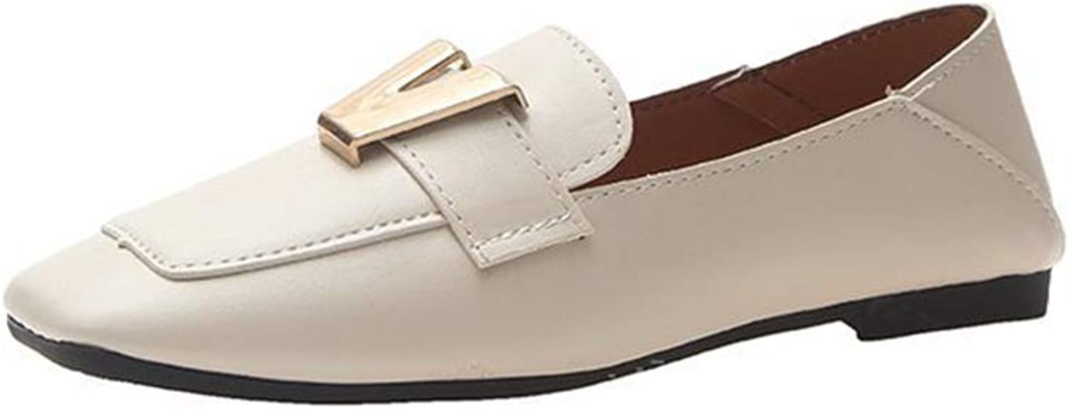 Phil Betty Women Flats shoes Fashion Square Toe Slip-On Comfort Casual Flats shoes