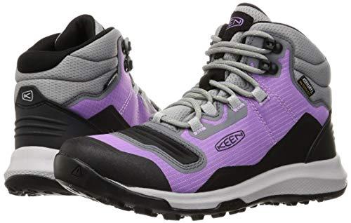 KEEN Women's Tempo Flex Mid Height Lightweight Waterproof Hiking Boot, African Violet/Sharp Green, 8.5