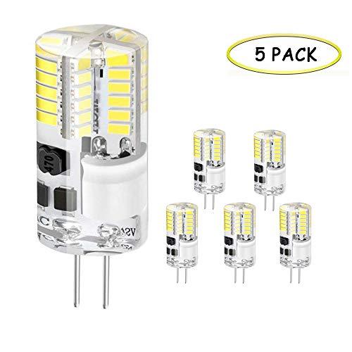 Ampoule LED G4, Jpodream 3W 48 * 3014 SMD OLED Lampe, 300 LM, 30W Ampoule Halogène équivalente, Blanc Froid 6000K, AC/DC 12V, 360° Faisceaux - Pack de 5