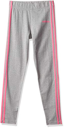 adidas Performance Essentials 3 Stripes Trainingstight Kinder grau/pink, 164