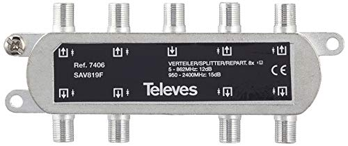 Televes - Repartidor pasivo 8d 5-2150 mhz 18db